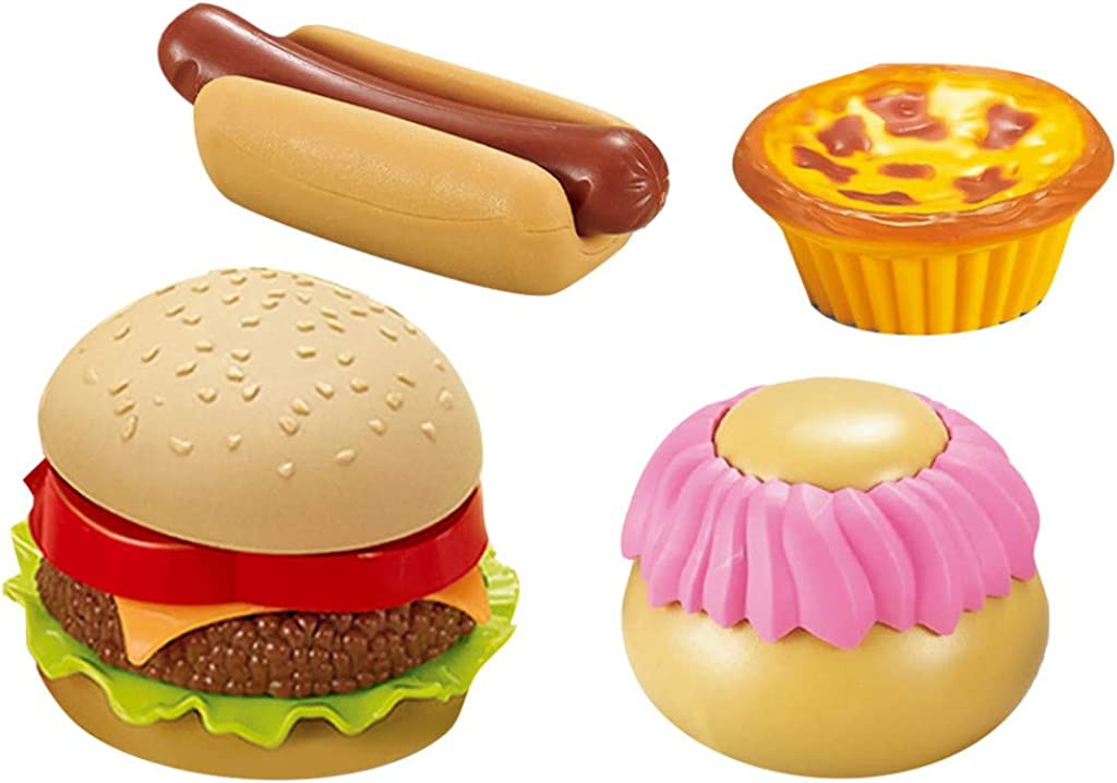 Kanzd Fast Food Deluxe Dinner Plastic Diner Food for Creative Pretend Play Classic Toy