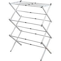 InterDesign Brezio Expandable Aluminum Clothes Drying Rack for Laundry Room