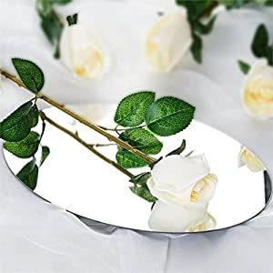 Tableclothsfactory 24 pcs Single Stems Artificial Artificial Roses Wedding Flowers - Cream 105