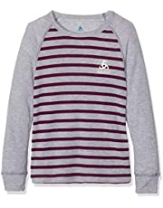 Odlo Bl Top Crew Neck L/S Active Warm Kids Camiseta, Bebé-Niños