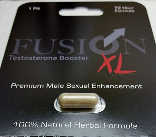 Fusion XL All Natural Herbal Testosterone Booster Male Enhancement Pill