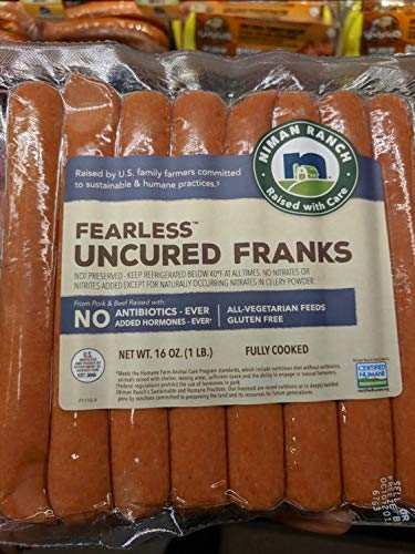 Niman Ranch Fearless Uncured Franks 16 Oz (4 Pack) by Niman Ranch