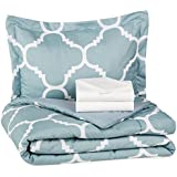 realbet20.comBasics 5-Piece Bed-In-A-Bag - Twin/Twin Extra-Long, Dusty Blue Trellis