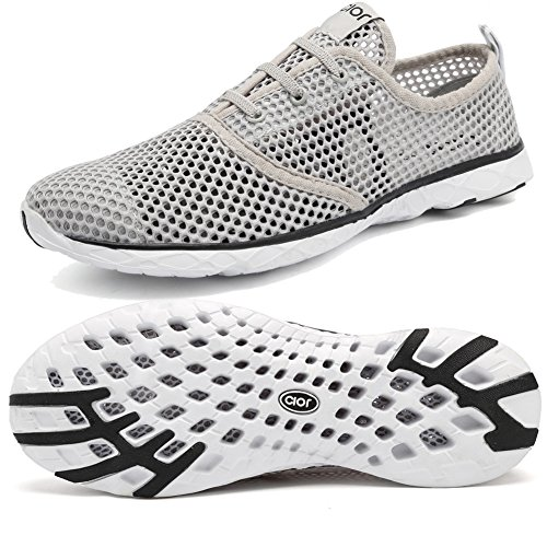 CIOR+Men%27s+and+Women%27s+Lightweight+Mesh+Slip-on+Water+Shoes%2CLS02%2CGrey35