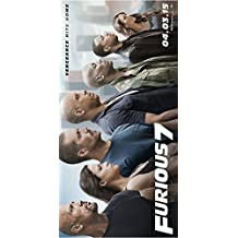 """Fast and Furious 7 Movie Poster (12 x 24"""") Special Thick Poster, Paul Walker, Vin Diesel, The Rock, Michelle Rodriguez"""