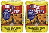 House-Autry - Old Fashioned Stone Ground Yellow Self-Rising Corn Meal Mix - Made With Whole Grain Corn - Net Wt. 2 Pounds (907 g) - Pack of 2