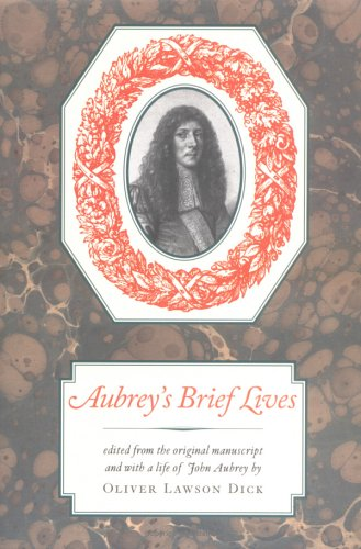 Download Aubrey's Brief Lives pdf