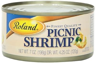 Roland Picnic Shrimp, 7 Ounce (Pack of 6)