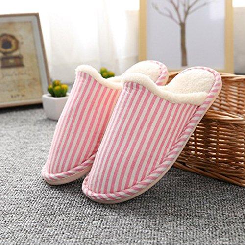 Belle Slippers Confortable Laozan Chaussons Femmes Hiver Pink Chaud Pantoufles Hommes xnZp0qgn