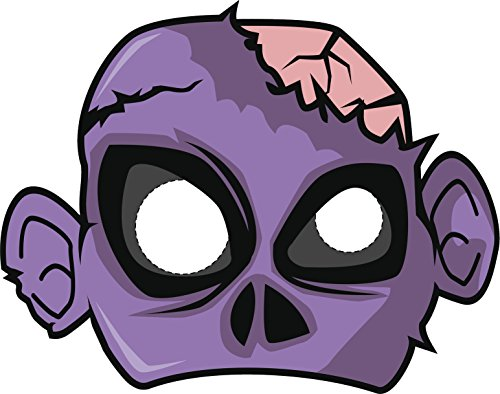 [Simple Halloween Monster Cartoon Costume Mask -Zombie Vinyl Decal Sticker (4