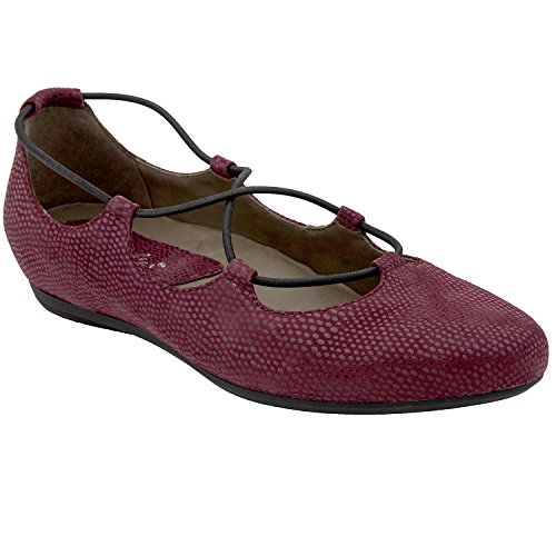 Earthies Women's Burgundy Print Suede Essen 9 Medium US