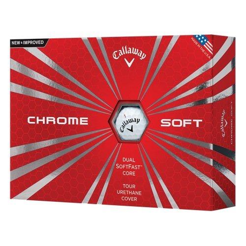 Polyester Chrome (Callaway 2016 Chrome Soft Golf Balls, White (One Dozen))