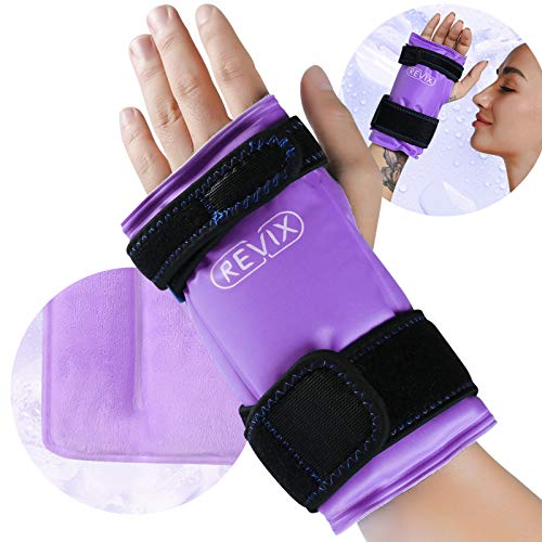 REVIX Wrist Ice Wrap for Carpal Tunnel and Hand Pain Relief