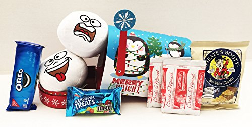 Unlocking Greatness You Are Loved Snowball Plush Toy, Popcorn, and Chocolate Christmas Gift Basket
