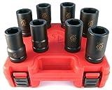 Chicago Pneumatic SS818D 1'' Drive 8 Piece Metric Deep Impact Socket Set