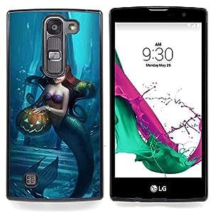 """Víspera Azul Niños Niños"""" - Metal de aluminio y de plástico duro Caja del teléfono - Negro - LG Magna / G4C / H525N H522Y H520N H502F H500F (G4 MINI,NOT FOR LG G4)"""
