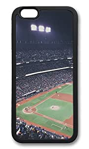 iPhone 6 Back Case - Baseball Park City Sports Life Durable TPU Rubber Bumper Case for iPhone 6 4.7 Inch Black