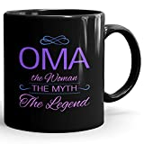 Best Mr. Coffee Coffee Mug For Grandmas - Personalized Womens Gift! Oma The Woman the Myth Review