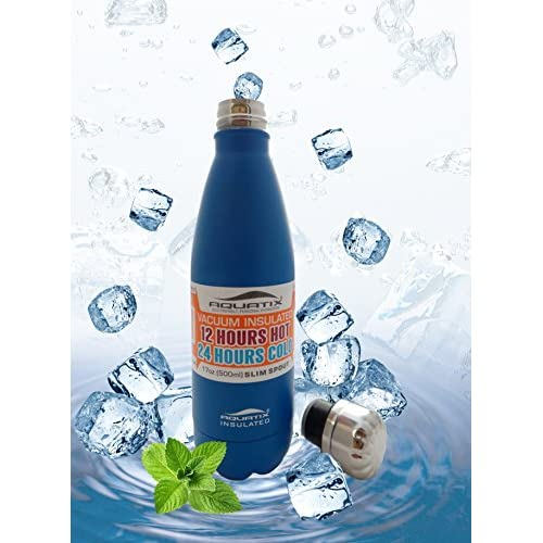 Aquatix Stainless Steel Sports Bottle 25 Oz Sea Mist Blue