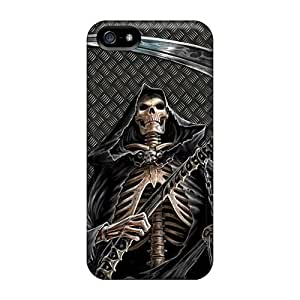 JohnPrimeauMaurice Iphone 5/5s Best Hard Phone Cases Provide Private Custom Attractive Grim Reaper Image [Atv2608GvHl]