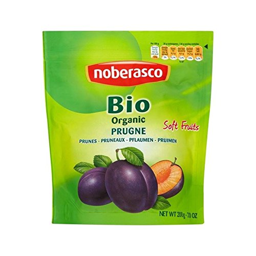 Noberasco Organic Soft Pitted Prunes 200g - Pack of 2 by Noberasco