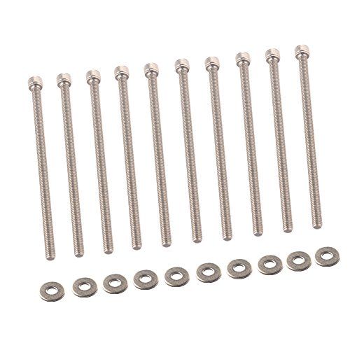 Dewhel Engine LS Series Intake Manifold Bolts Kit SS Stainless Steel For LSX LS1 LS2 LS3 LS6 CAMARO CORVETTE GM