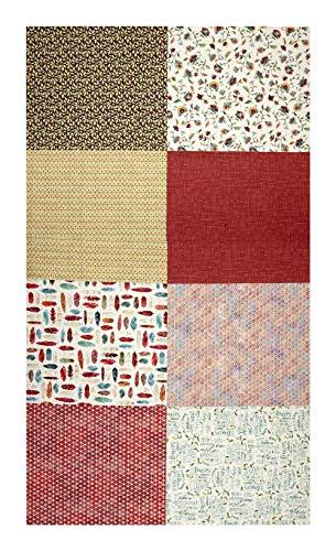 (Hoffman Fabrics 0560489 Hoffman Digital All A Twitter Fat Quarter Multi Print 72inPanel Carnation)