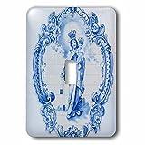 3dRose lsp_227805_1 Portugal, Azulejo on Facade of Igreja De Sao Sebastiao Da Pedreira Toggle Switch, Mixed