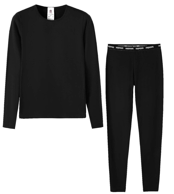 LAPASA Boy&Girl Set Intimo Termico per Bambini e Bambine - Ti Tiene al Caldo Senza Stress- T-Shirt Maniche Lunghe & Pantaloni Invernali B03