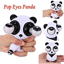 Fiaya Novelties Pop Eyes Animal Toys Pop Out Stress Reliever Lovely Cows Pig Panda Bear Squeeze Vent Toys Gift