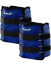 MOVIT® set van 2 gewichtsmanchetten voor polsen en enkels, 7 gewichtsvarianten, gewichten voor armen en benen 2x 0,5 kg - 2x 4 kg, loopgewichten voor voet/pols