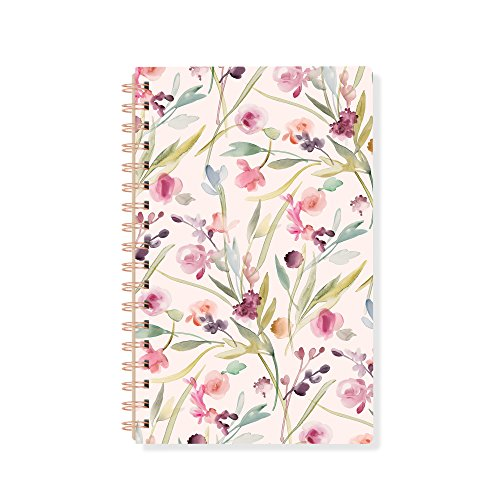 (Fringe Signature Spiral Journal, 160 Lined Pages, 6 x 9.5 Inches, Garland Floral Pattern (896101))