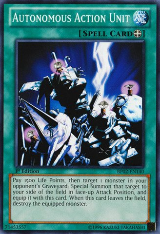 Autonomous Action Unit - Yu-Gi-Oh! - Autonomous Action Unit (BP02-EN140) - Battle Pack 2: War of the Giants - 1st Edition - Common