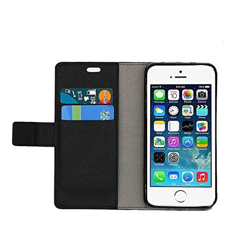 Funda para LG K10 2018,SunFay Premium Cuero PU Cover Magnético Flip Folio Ranura para Tarjetas Protective Billetera Funda Case con Stand Función para LG K10 2018 - Rojo Negro