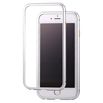 Bandmax iPhone 6/6S Funda Magnética Bodyguard Edge Antiarañazos Aluminio Bumper Duro Carcasa Protectora para iPhone 6/6S (Plateado)