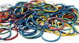Elastic Hair Ties Small Mini Rubber Bands Holder Multi Color (144x275pk= 39600 Rubber Bands)