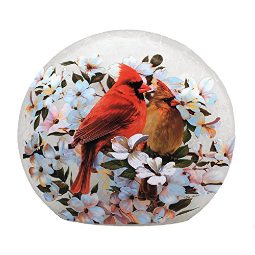 - Stony Creek Lighted Round Glass - Cardinals