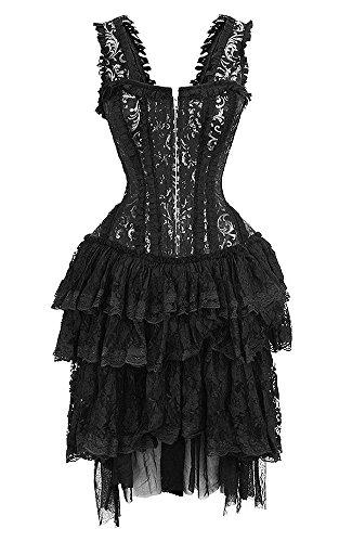 Schwarzen Kleid Blumenmuster für grau Spitzenmuster und ...