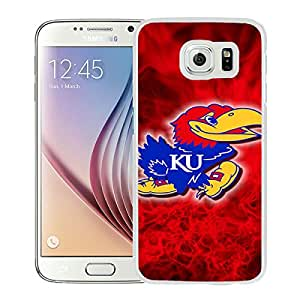 Excellent protection,Lightweight and durable NCAA Big 12 Conference Big12 Football Kansas Jayhawks 1 White Samsung Galaxy S6 Case