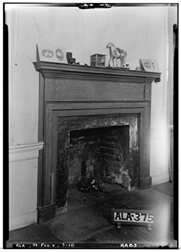 8 x 12 Photo 10. Historic American Buildings Survey Alex Bush, Photographer, March 27, 1935 Fireplace in N.W. Bed Room Upstairs - Forks Cypress, Savannah Road (Jackson Road), Florence 1886 58a by Vintography