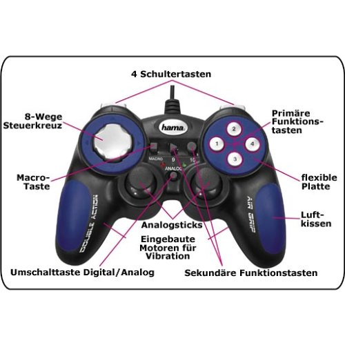 HAMA Double Action AirGrip PC Gamepad Driver for PC