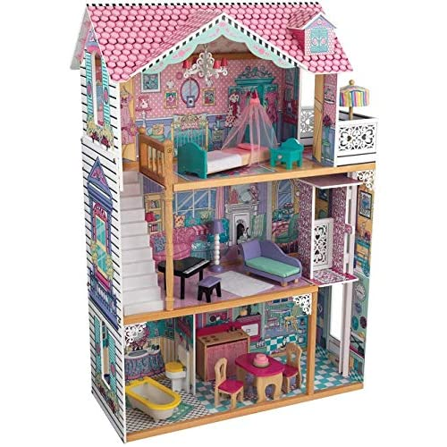 chollos oferta descuentos barato KidKraft 65079 Casa de muñecas de madera Annabelle para muñecas de 30 cm con 17 accesorios incluidos y 3 niveles de juego