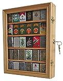zippo case display - Lockable Cigarette/Sport Lighter Display Case Wall Cabinet Shadow Box LC30 (Oak)