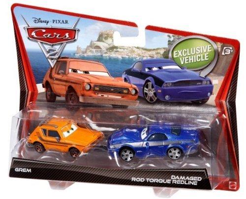 Disney Pixar Cars 2 Vehicle 2-Pack - Grem and Rod 'Torque' Redline (Cars 2 Grem)