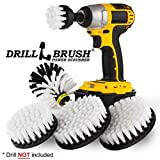 Kayak - Boat Accessories - Drill Brush - Car Wash Kit - Soft White Bristle Drill Brush - Wheel Rim Brush - Jet Ski - Automotive Seat, Carpet, Interior, Upholstery, Vinyl, Fabric, Leather Cleaner