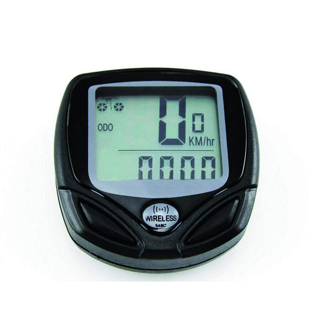 Febelle - Velocímetro para Bicicleta (Pantalla Grande, Resistente al Agua, inalámbrico, LCD, Digital, Bicicleta de montaña)