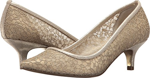 Papell Gold Lace Canvas Laws Heels Adrianna Valencia Zw01q0