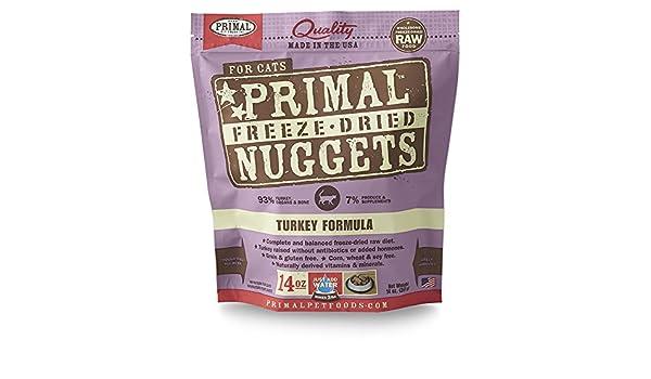 Primal Freeze seco Turquía Cat Food (14 oz): Amazon.es: Productos para mascotas