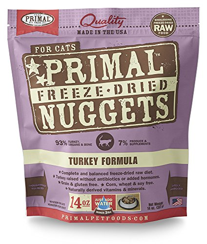 Primal Pet Foods Freeze-Dried Feline Turkey Formula, 14 OZ (Raw Pet Foods)