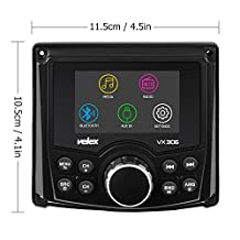 Marine Bluetooth Stereo Audio / Video Receiver AM FM radio, Gauge MECH LESS for Yacht, Power Sport